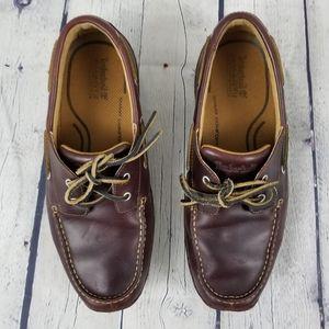 TIMBERLAND | burgundy slip on driving shoe loafer